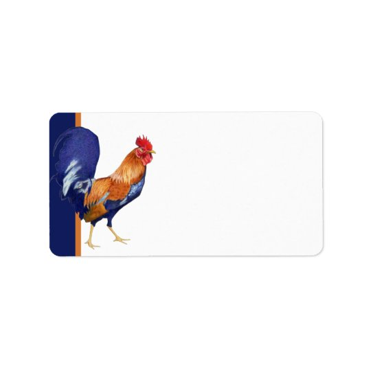 Rooster Address Label