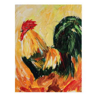 Rooster Alexis. Personal designs of roosters Postcard