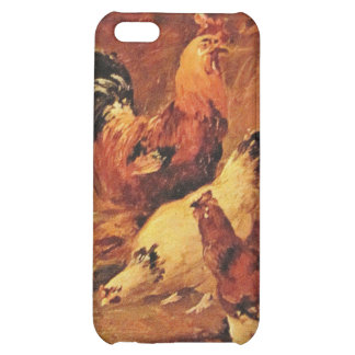 Rooster and chickens cover for iPhone 5C