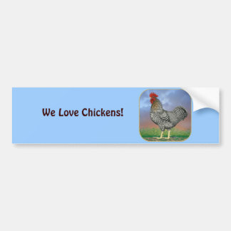 Rooster and Clouds Bumper Sticker