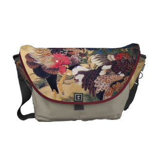 Rooster and Hen Messenger Bag