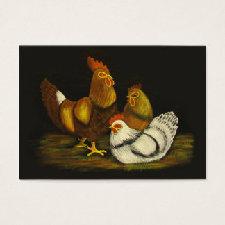 Rooster and Hens ~ ATC Business Card