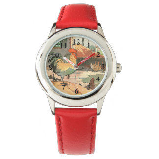 Rooster and Hens Farm Yard Watches