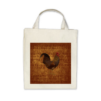 Rooster and Music Bags