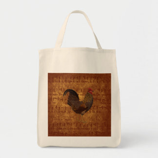 Rooster and Music Tote Bag