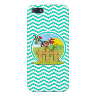 Rooster Aqua Green Chevron Case For iPhone 5/5S