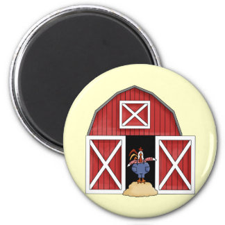 Rooster Barn 6 Cm Round Magnet