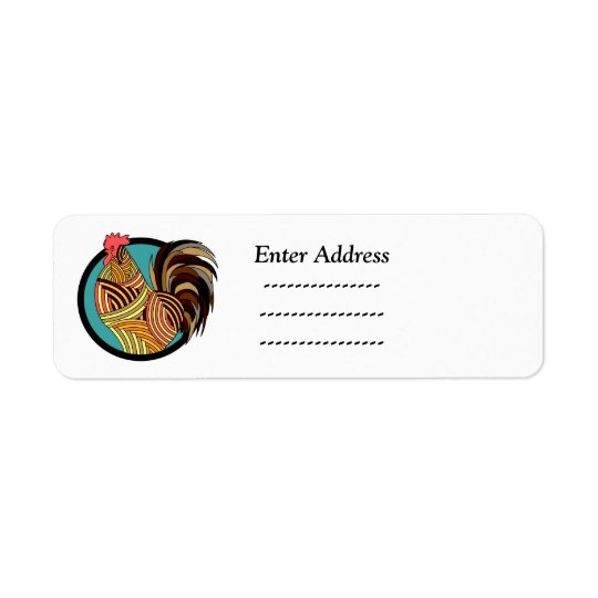 Rooster Bird Custom address label Sticker