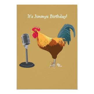 Rooster Birthday Invitation