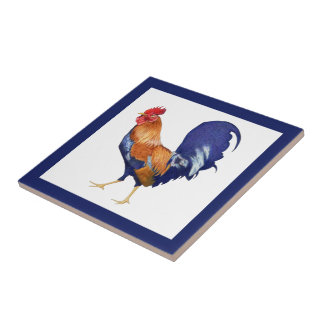 Rooster border Tile