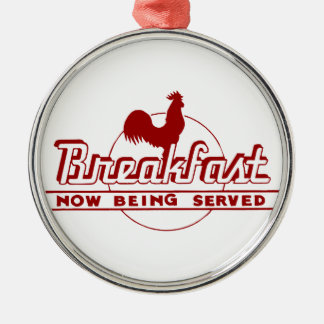 Rooster Breakfast Christmas Ornament