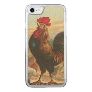 Rooster Carved iPhone 7 Case