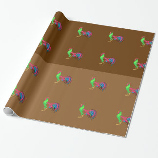 Rooster Charm Wrapping Paper