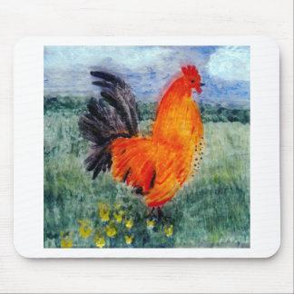 Rooster Chicken Art Mouse Mat