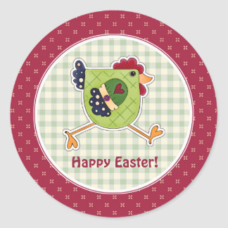 Rooster Country Design Easter Gift Stickers