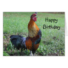 Rooster Crowing Animal Birthday Card