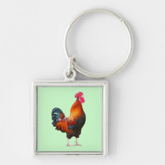 Rooster Crowing Keychain