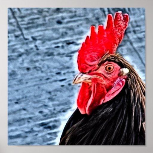 Rooster Digital Art Print