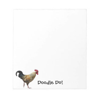 Rooster Doodle Notepad