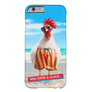Rooster Dude Chillin' at Beach in Swim Trunks Barely There iPhone 6 Case