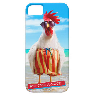 Rooster Dude Chillin' at Beach in Swim Trunks iPhone 5 Case