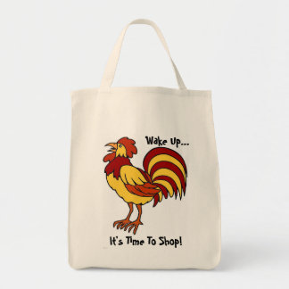 Rooster Eco-Shopping Bag. Grocery Tote Bag