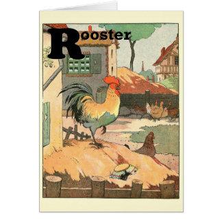Rooster Farm Yard Greeting Card