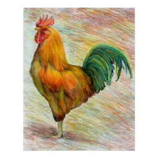 Rooster Fine Art Poster