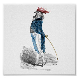 Rooster Gentleman Posters