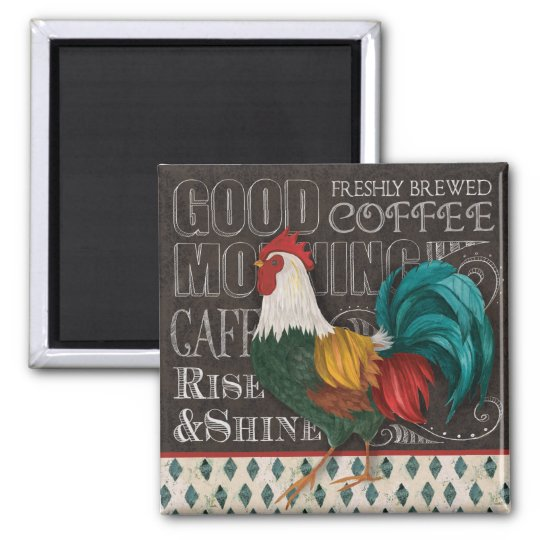 Rooster Good Morning magnet