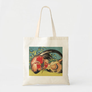 """Rooster, Hen and Chicken"" Tote"