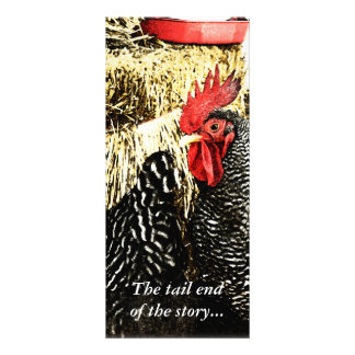 Rooster & Hen Tail Funny Rack Card