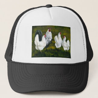 """Rooster & Hens"" Art Hat"