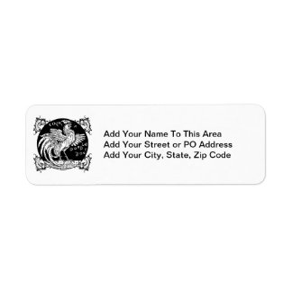 Rooster Home Decor, Apparel, and Gifts Return Address Label