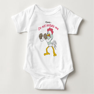 Rooster in gloves baby bodysuit