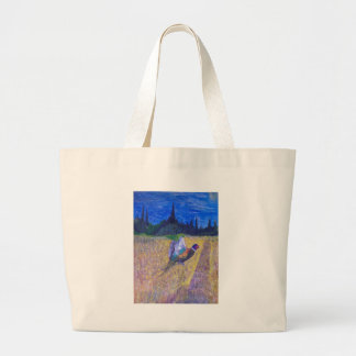 Rooster In The Field Jumbo Tote Bag