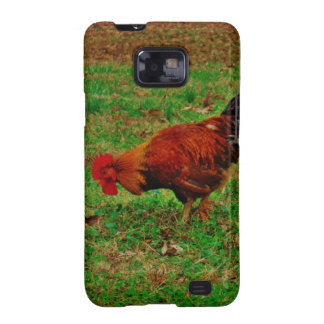 Rooster in the Grass Galaxy S2 Cover