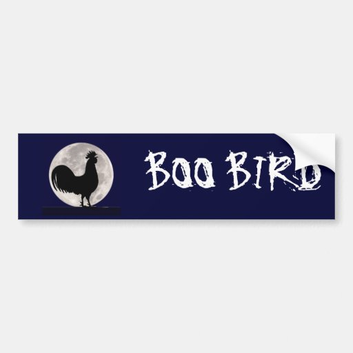 Rooster in the Moonlight Bumper Stickers