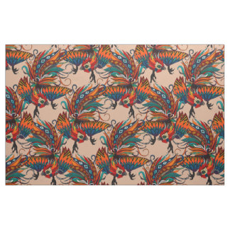 rooster ink beige fabric