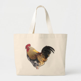 Rooster Large Tote Bag