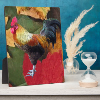 Rooster Leaves Plaque (3) SIZES