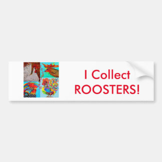 Rooster Menagerie Bumper Sticker
