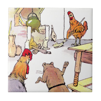 Rooster, Mouse & Hen in Kitchen Tile
