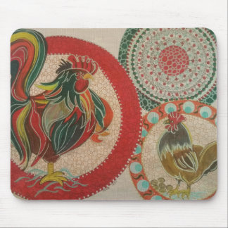 Rooster Mouse Mat