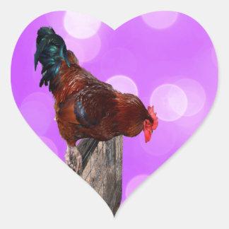 Rooster Nosy Parker, Heart sticker