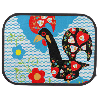 Rooster of Portugal Car Mat
