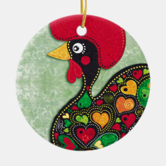 Rooster of Portugal Christmas Ornament