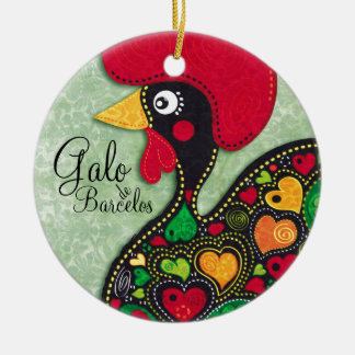 Rooster of Portugal - Galo de Barcelos Round Ceramic Decoration