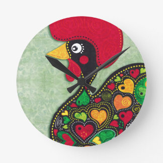 Rooster of Portugal Wallclock