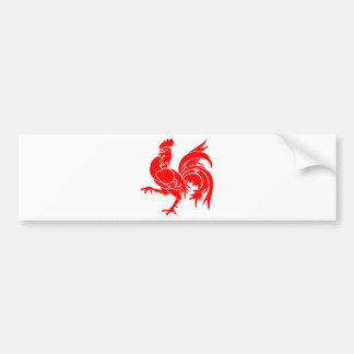 Rooster of Wallonia. Bumper Sticker